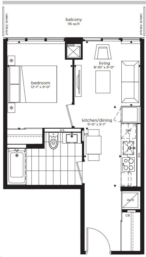 Citylights On Broadway Condos By Pemberton 1e N Floorplan