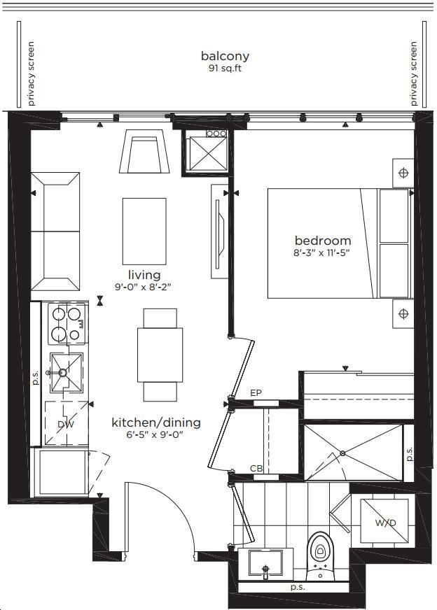Citylights On Broadway Condos By Pemberton 1a S Floorplan
