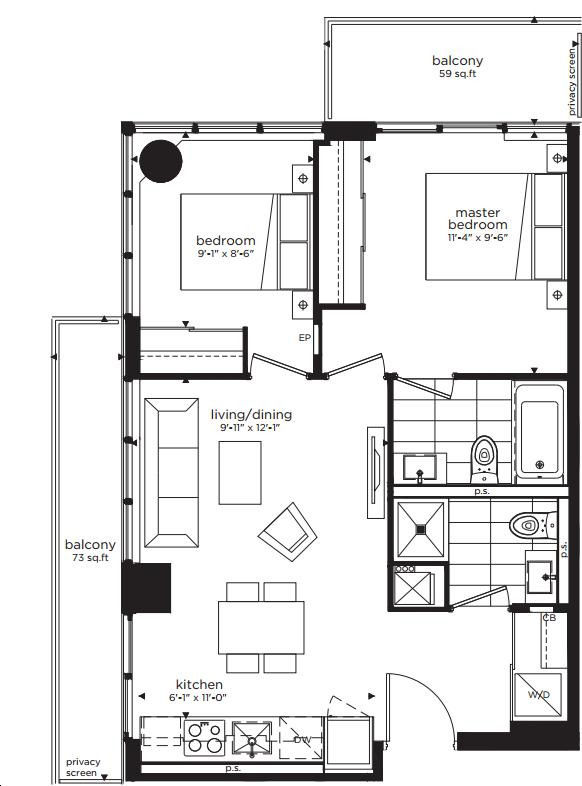 Citylights On Broadway Condos By Pemberton 2a N Floorplan