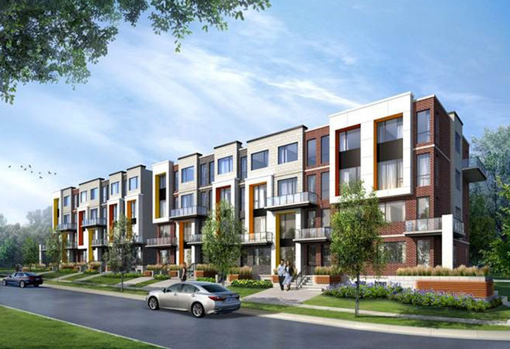 Downsview Park Towns Exterior Rendering