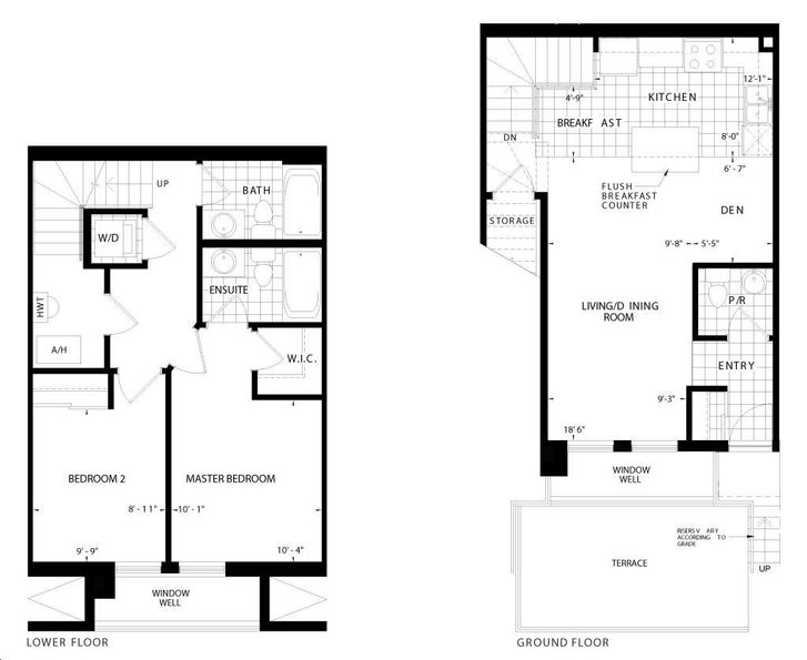 Dwell City Towns By Menkes Savvy Floorplan 2 Bed 2 5 Bath