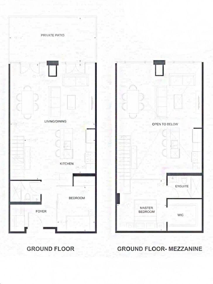 Ev Royale Condos By Yyzed Birkhall Floorplan 2 Bed 2 Bath