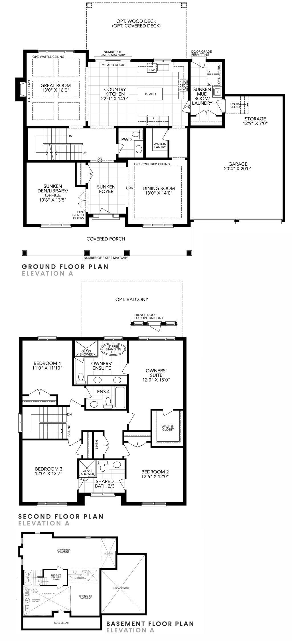 Eagle S Rest Estates By Fernbrook Arbor Floorplan 4 Bed 3 5 Bath