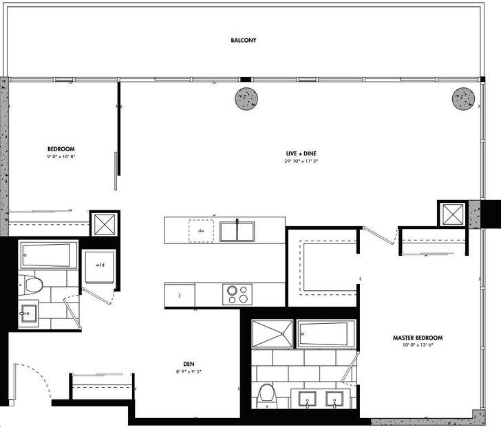 East 55 Condos By Lamb Beijing Floorplan 2 Bed 2 Bath