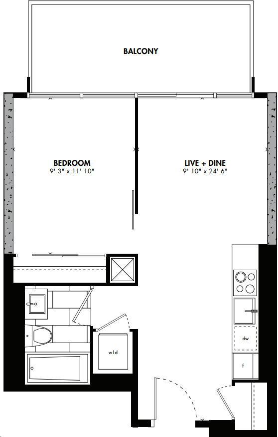 East 55 Condos By Lamb Osaka Floorplan 1 Bed 1 Bath