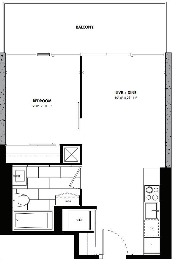 East 55 Condos By Lamb Kyoto Floorplan 1 Bed 1 Bath