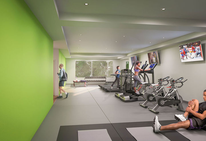 Fitness Center at East 55 Condos