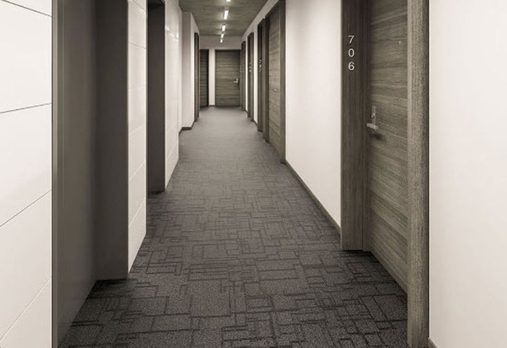 Hallway Features and Finishes at East 55 Condos