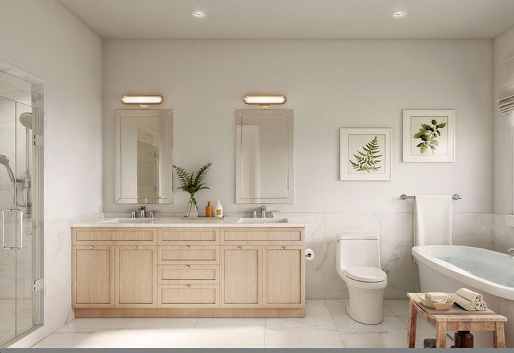 Spa Inspired Bathroom Suite Interior at Eastmore Village Towns