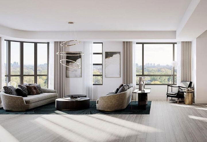 Living Room Suite Interior at Empire Maven Condos