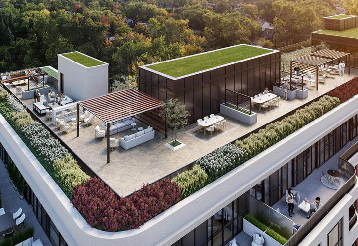 Rooftop Terrace at Empire Maven Condos