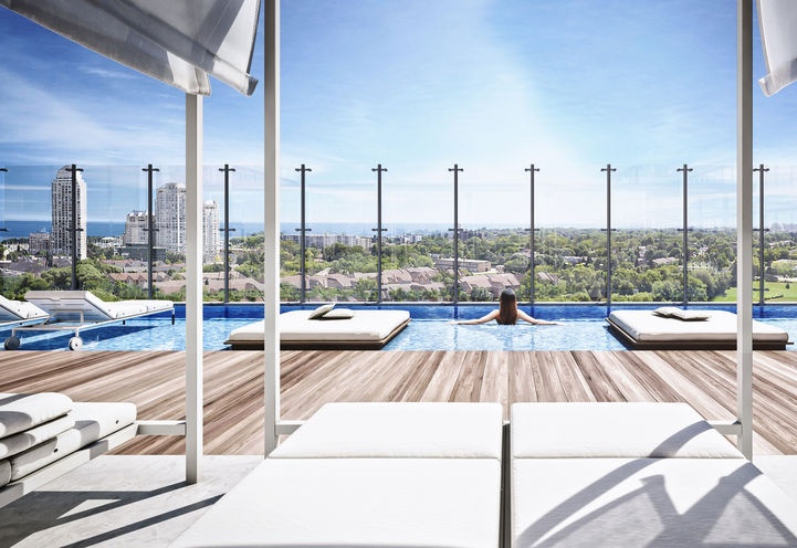 Outdoor Infinity Pool at Empire Phoenix Condos 2
