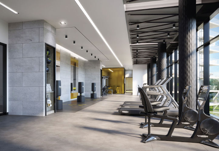 Fitness Room at Erin Square Condos 2