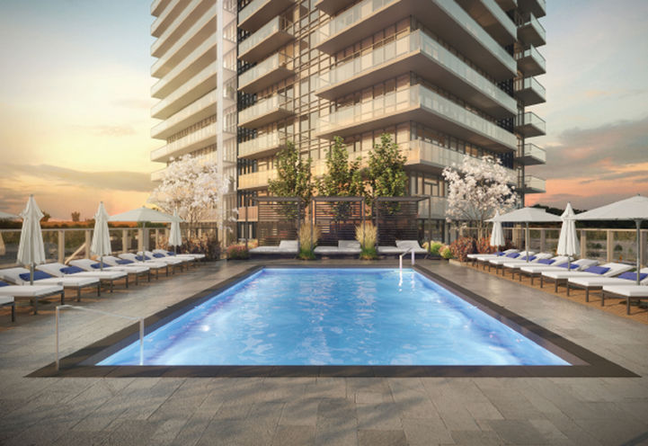 Outdoor Swimming pool at Erin Square Condos 2