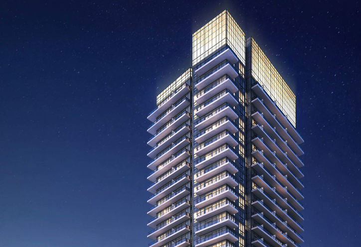 Fortune at Fort York Night Exterior Rendering