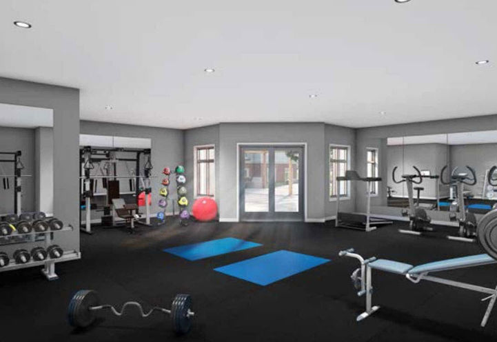 Fitness Centre at Frontenac Condos