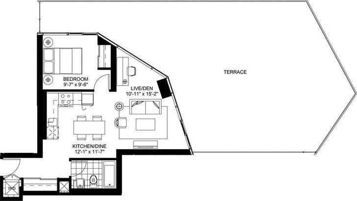 Garrison Point Condos By Cityzen Suite H T Floorplan 1