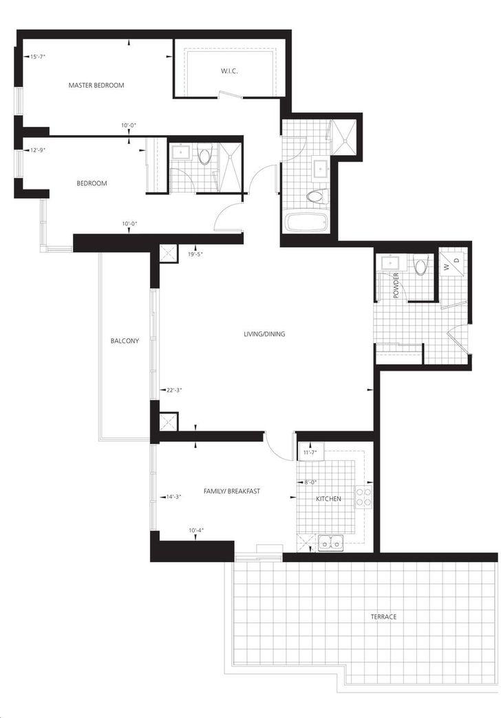 Gibson Square Condos By Menkes Ph102 Floorplan 2 Bed Amp 3 Bath