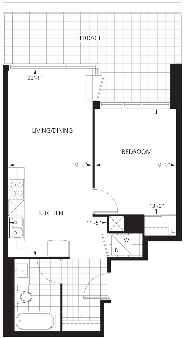 Gibson Square Tower 2 By Menkes Apollo Floorplan 1 Bed