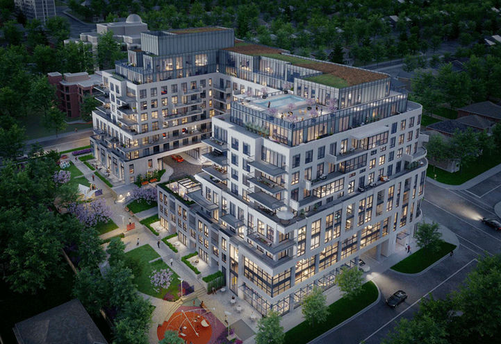 Aerial View of Glen Hill Condos by Lanterra Developments