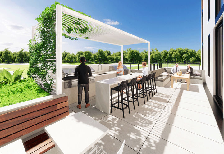 Outdoor Terrace at Grand Bell Suites