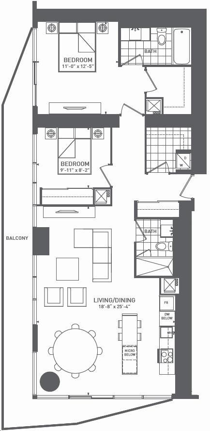 Harbour Plaza Residences By Menkes Crest A Floorplan 2