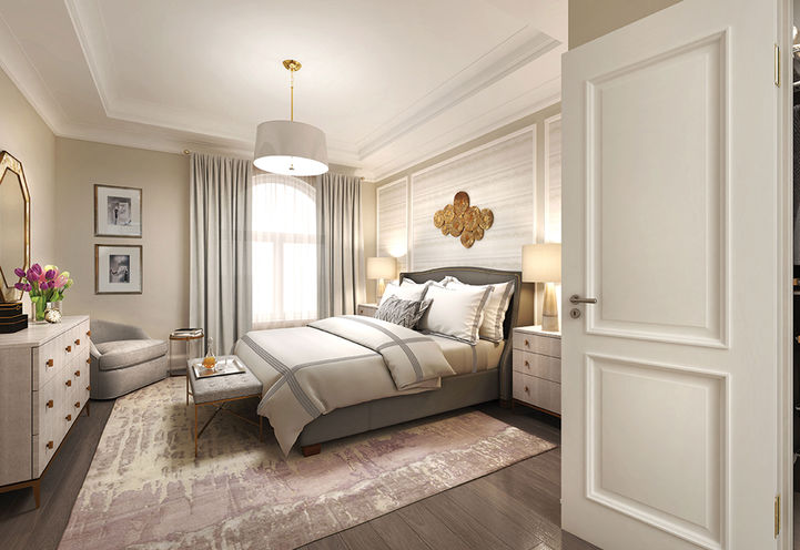 Exquisite Master Bedroom Finishes at Hart Haus Condos
