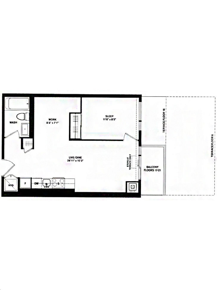 home power adelaide condos by great gulf 1d 549 floorplan