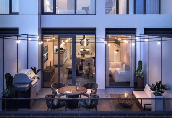 Outdoor Living Space at Junction House Condos