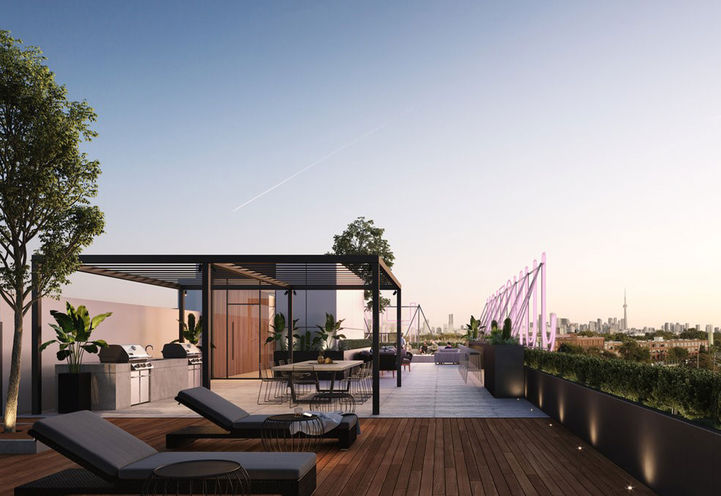 Outdoor Terrace at Junction House Condos