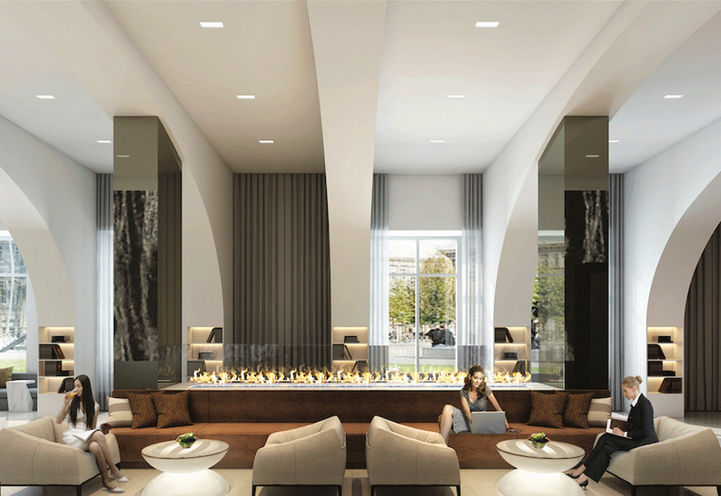 Contemporary Sports Bar and Work Space at KSquare Condos