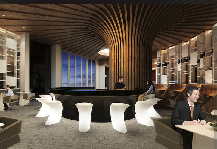 Luxe Library and Sports Bar - KSquare Condos