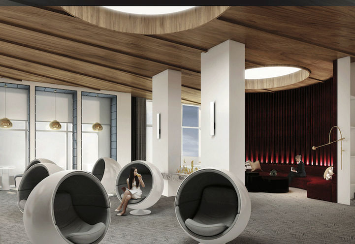 Sophisticated Lobby Lounge - KSquare Condos