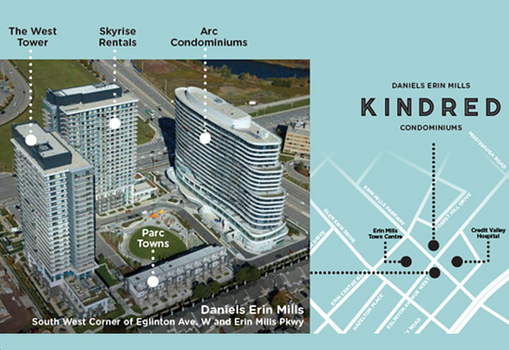 Kindred Condos Aerial View of Site Plan