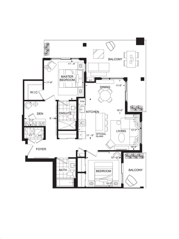 Lake House Condos by Branthaven |Silver Lake II Floorplan 2 bed & 2 bath