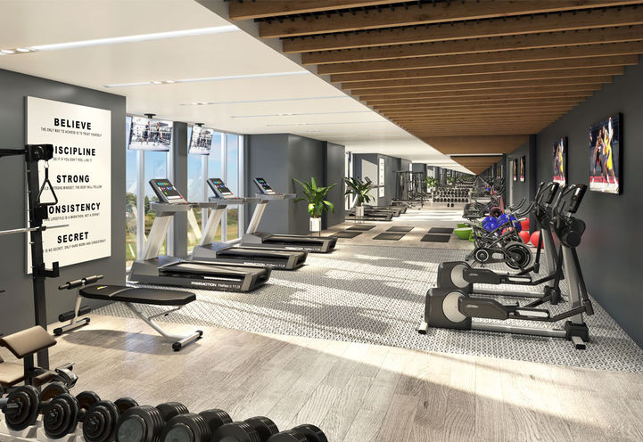 LakeVu Condos 2 State of the Art Fitness Room