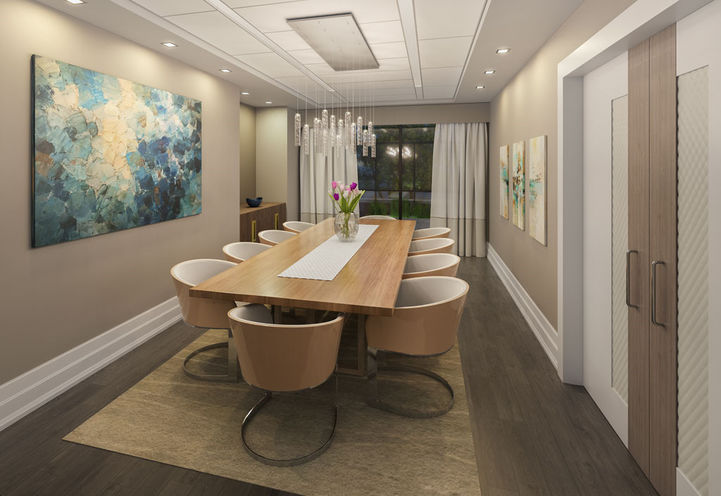 Dining Room Interior Features and Finishes at Leaside Manor