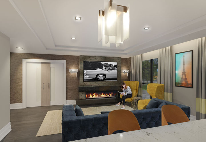 Fireplace Lounge at Leaside Manor