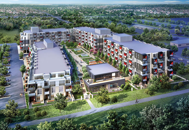 Overview of The Link Condos and Towns by ADI Development Group