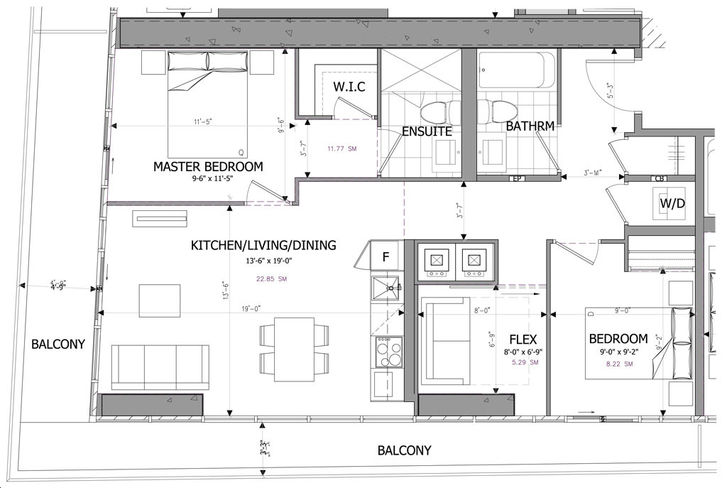 M city condos by rogers real estate development limited e for Real estate floor plan pricing