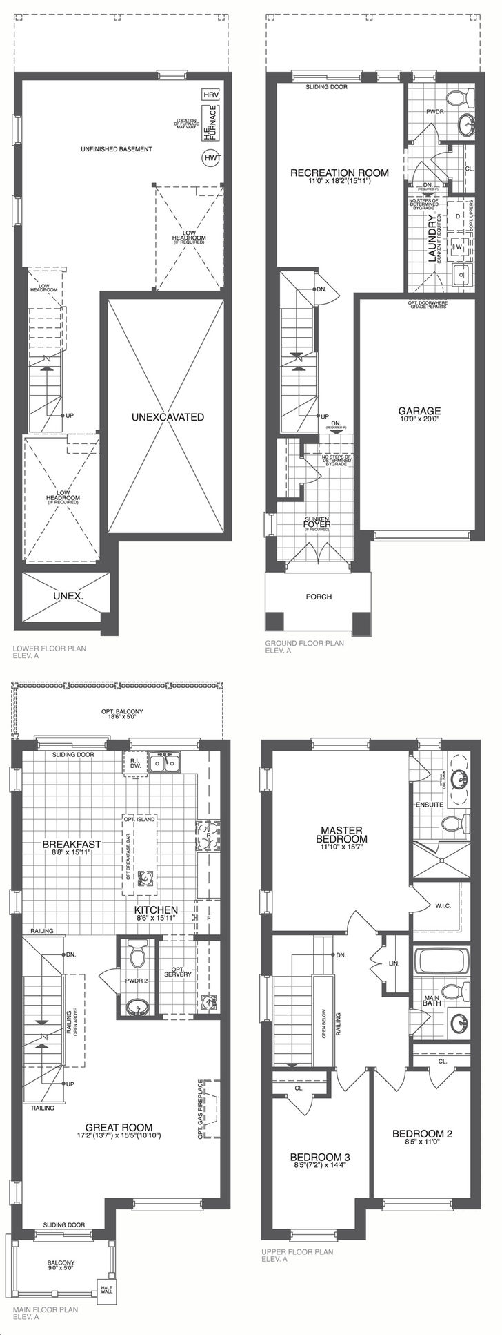 Main And Co Towns By Stateview Homes The Applewood Floorplan 3 Bed 3 Bath