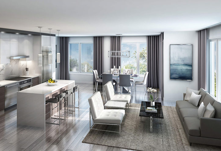 Living Interior, Market District Urban Towns at Whites Rd N, Pickering, ON