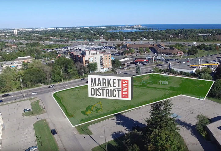 Map, Market District Urban Towns at Whites Rd N, Pickering, ON