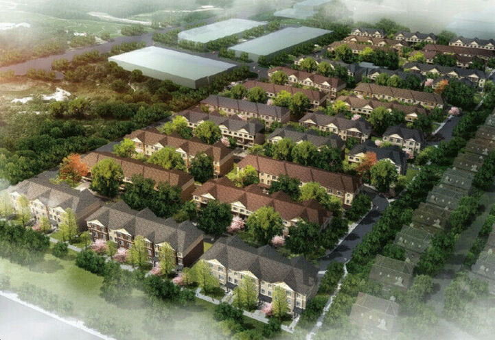 Aerial View of Markham GOLD Towns Community