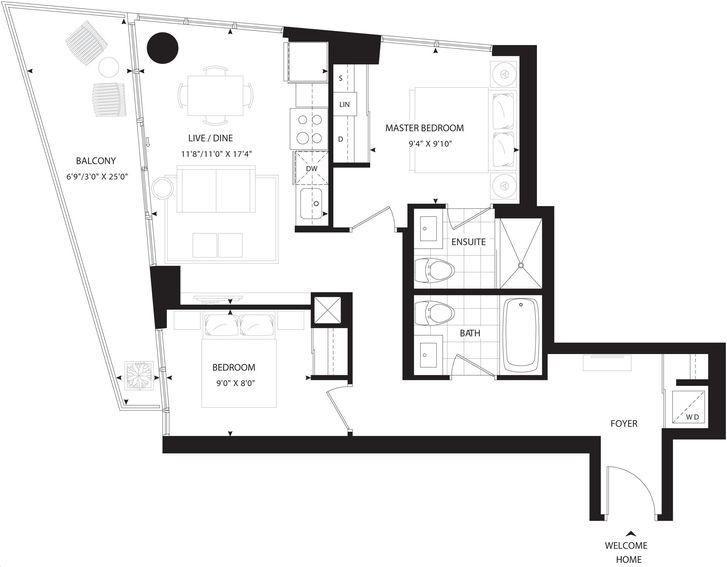 Minto 30 Roe By Minto Erskine Floorplan 2 Bed Amp 2 Bath