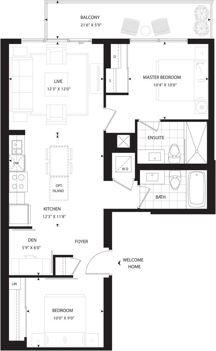 Minto 30 Roe By Minto Highbourne Floorplan 2 Bed Amp 2 Bath