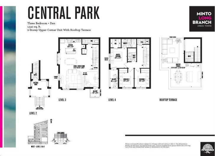 Minto Longbranch By Minto Central Park Floorplan 3 Bed