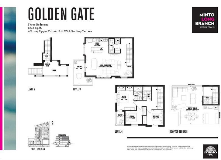 Minto longbranch by minto golden gate floorplan 3 bed 2 for Stacked townhouse floor plans