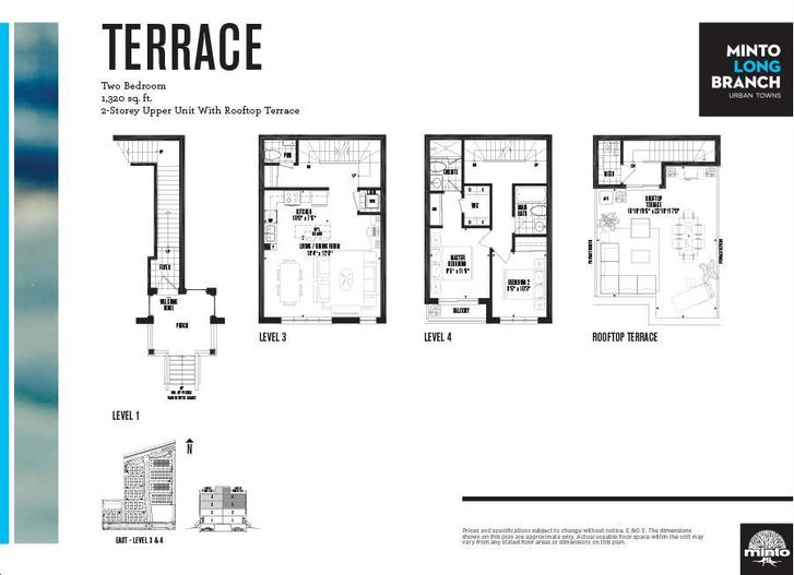 Minto Longbranch By Minto Terrace Floorplan 2 Bed Amp 2 5 Bath