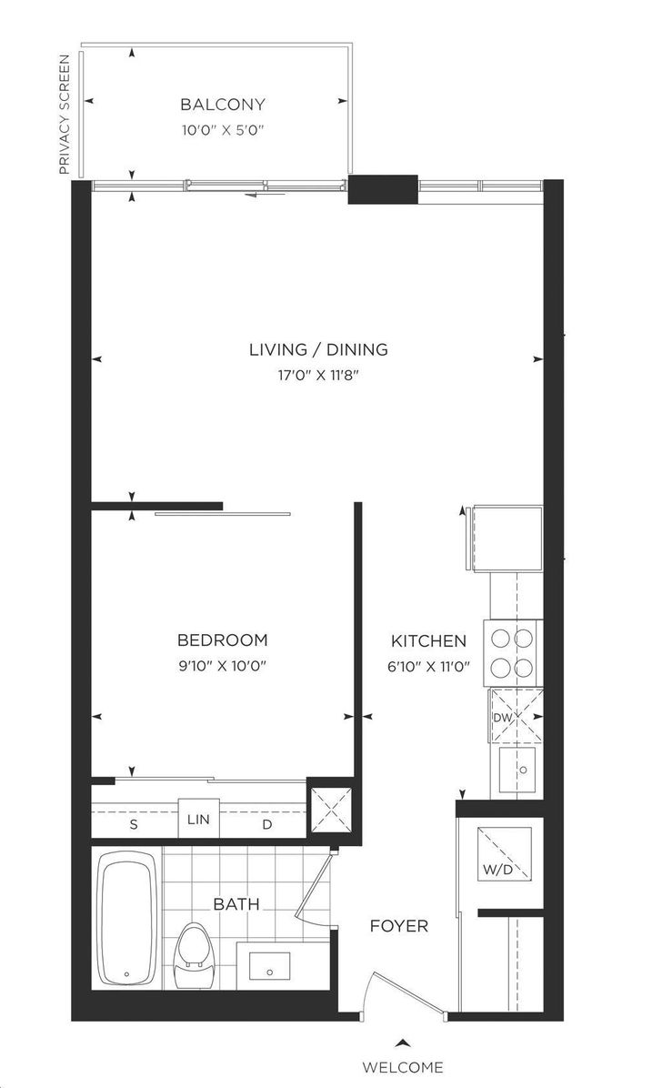 Minto Water Garden By Minto 552 Floorplan 1 Bed Amp 1 Bath